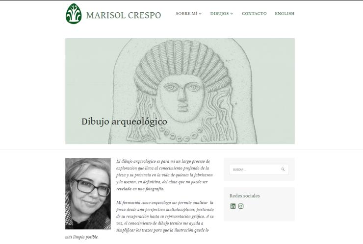 Marisol Crespo. Dibujo arqueológico